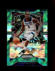 2019 GORGUI DIENG PRIZM #162 CRACKED GREEN ICE TIMBERWOLVES *R5191