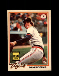 1978 DAVE ROZEMA OPC #38 O-PEE-CHEE TIGERS *8053