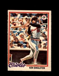 1978 KEN SINGLETON OPC #80 O-PEE-CHEE ORIOLES *R5144