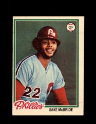 1978 BAKE MCBRIDE OPC #156 O-PEE-CHEE PHILLIES *R5472