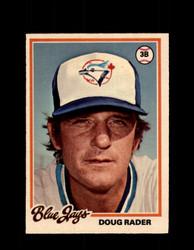 1978 DOUG RADER OPC #166 O-PEE-CHEE BLUE JAYS *R5480