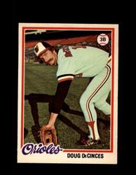 1978 DOUG DECINCES OPC #192 O-PEE-CHEE ORIOLES *R5500