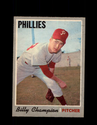 1970 BILLY CHAMPION OPC #149 O-PEE-CHEE PHILLIES *R5673