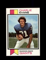 1973 CHARLIE EVANS TOPPS #184 GIANTS *3878
