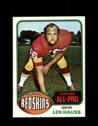 1976 LEN HAUSS TOPPS #370 REDSKINS *9197