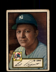 1952 ED LOPAT TOPPS #57 YANKEES VG/MK *9411
