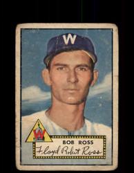 1952 BOB ROSS TOPPS #298 SENATORS POOR *9437