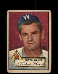 1952 FLOYD BAKER TOPPS #292 SENATORS POOR *9439