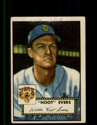 """1952 """"HOOT"""" EVERS TOPPS #222 TIGERS POOR *9451"""