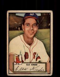 1952 ELLIS KINDER TOPPS #78 RED SOX POOR *9465