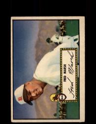 1952 FRED MARSH TOPPS #8 BROWNS POOR *9501
