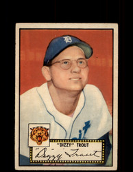 """1952 """"DIZZY"""" TROUT TOPPS #39 TIGERS POOR *9509"""