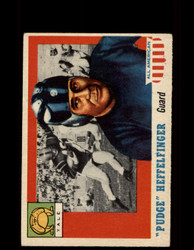 "1955 ""PUDGE"" HEFFELFINGER TOPPS #18 ALL AMERICAN YALE VG/EX *9543"