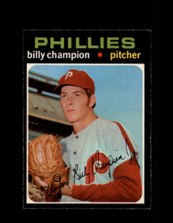 1971 BILLY CHAMPION OPC #323 O-PEE-CHEE PHILLIES *R1704