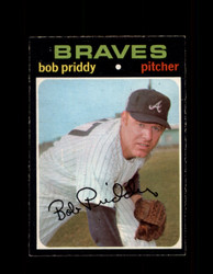 1971 BOB PRIDDY OPC #147 O-PEE-CHEE BRAVES *4512