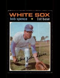 1971 BOB SPENCE OPC #186 O-PEE-CHEE WHITE SOX *9750