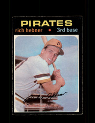 1971  RICH HEBNER OPC #212 O-PEE-CHEE PIRATES *9786