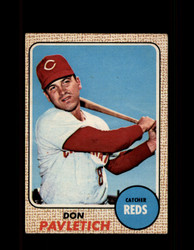 1968 DON PAVLETICH OPC #108 O-PEE-CHEE REDS *9846
