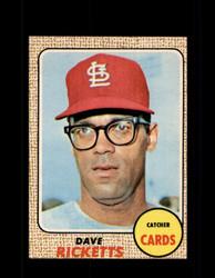 1968 DAVE RICKETTS OPC #46 O-PEE-CHEE CARDINALS *9913