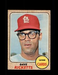 1968 DAVE RICKETTS OPC #46 O-PEE-CHEE CARDINALS *9914