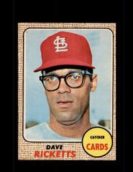 1968 DAVE RICKETTS OPC #46 O-PEE-CHEE CARDINALS *9975
