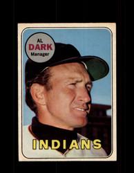 1969 AL DARK OPC #91 O-PEE-CHEE INDIANS *G6246