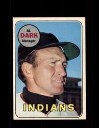 1969 AL DARK OPC #91 O-PEE-CHEE INDIANS *R5061
