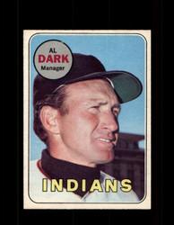 1969 AL DARK OPC #91 O-PEE-CHEE INDIANS *R5060