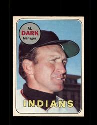 1969 AL DARK OPC #91 O-PEE-CHEE INDIANS *G6301