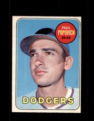 1969 PAUL POPOVICH OPC #47 O-PEE-CHEE DODGERS *G6313