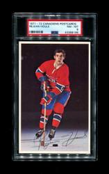 1971-72 REJEAN HOULE CANADIENS POSTCARDS PSA 8