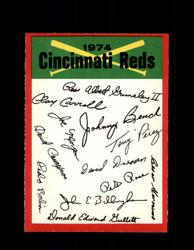 1974 CINCINNATI REDS OPC TEAM CHECKLIST O-PEE-CHEE *R4109