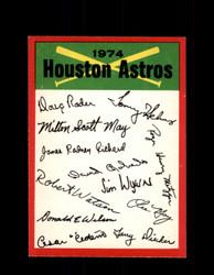 1974 HOUSTON ASTROS OPC TEAM CHECKLIST O-PEE-CHEE *R4151
