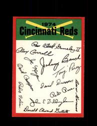 1974 CINCINNATI REDS OPC TEAM CHECKLIST O-PEE-CHEE *8168