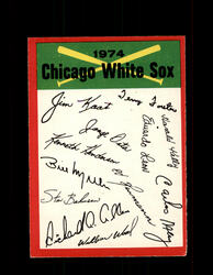 1974 CHICAGO WHITE SOX OPC TEAM CHECKLIST O-PEE-CHEE *R4502