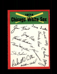 1974 CHICAGO WHITE SOX OPC TEAM CHECKLIST O-PEE-CHEE *R4408