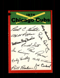 1974 CHICAGO CUBS OPC TEAM CHECKLIST O-PEE-CHEE *6455