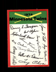 1974 MINNESOTA TWINS OPC TEAM CHECKLIST O-PEE-CHEE *R4687