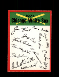 1974 CHICAGO WHITE SOX OPC TEAM CHECKLIST O-PEE-CHEE *R5715