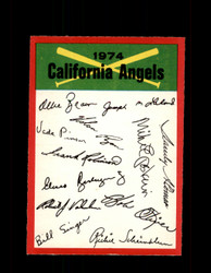 1974 CALIFORNIA ANGLES OPC TEAM CHECKLIST O-PEE-CHEE *G5902