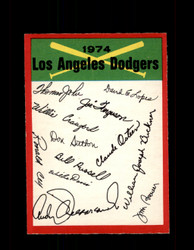 1974 LOS ANGELES DODGERS OPC TEAM CHECKLIST O-PEE-CHEE *R4586