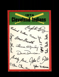 1974 CLEVELAND INDIANS OPC TEAM CHECKLIST O-PEE-CHEE *2345