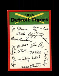 1974 DETROIT TIGERS OPC TEAM CHECKLIST O-PEE-CHEE *R5206