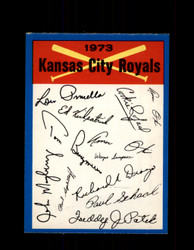 1973 KANSAS CITY ROYALS OPC TEAM CHECKLIST O-PEE-CHEE *1319