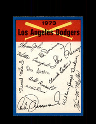 1973 LOS ANGELES DODGERS OPC TEAM CHECKLIST O-PEE-CHEE *5928