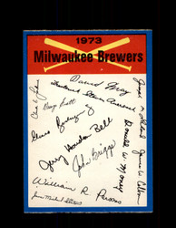 1973 MILWAUKEE BREWERS OPC TEAM CHECKLIST O-PEE-CHEE *R5448