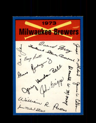 1973 MILWAUKEE BREWERS OPC TEAM CHECKLIST O-PEE-CHEE *1687