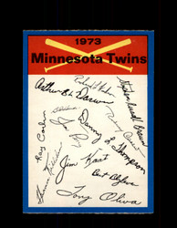 1973 MINNESOTA TWINS OPC TEAM CHECKLIST O-PEE-CHEE *2937