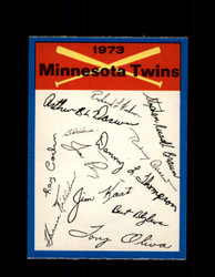 1973 MINNESOTA TWINS OPC TEAM CHECKLIST O-PEE-CHEE *1691