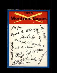 1973 MONTREAL EXPOS OPC TEAM CHECKLIST O-PEE-CHEE *R1036